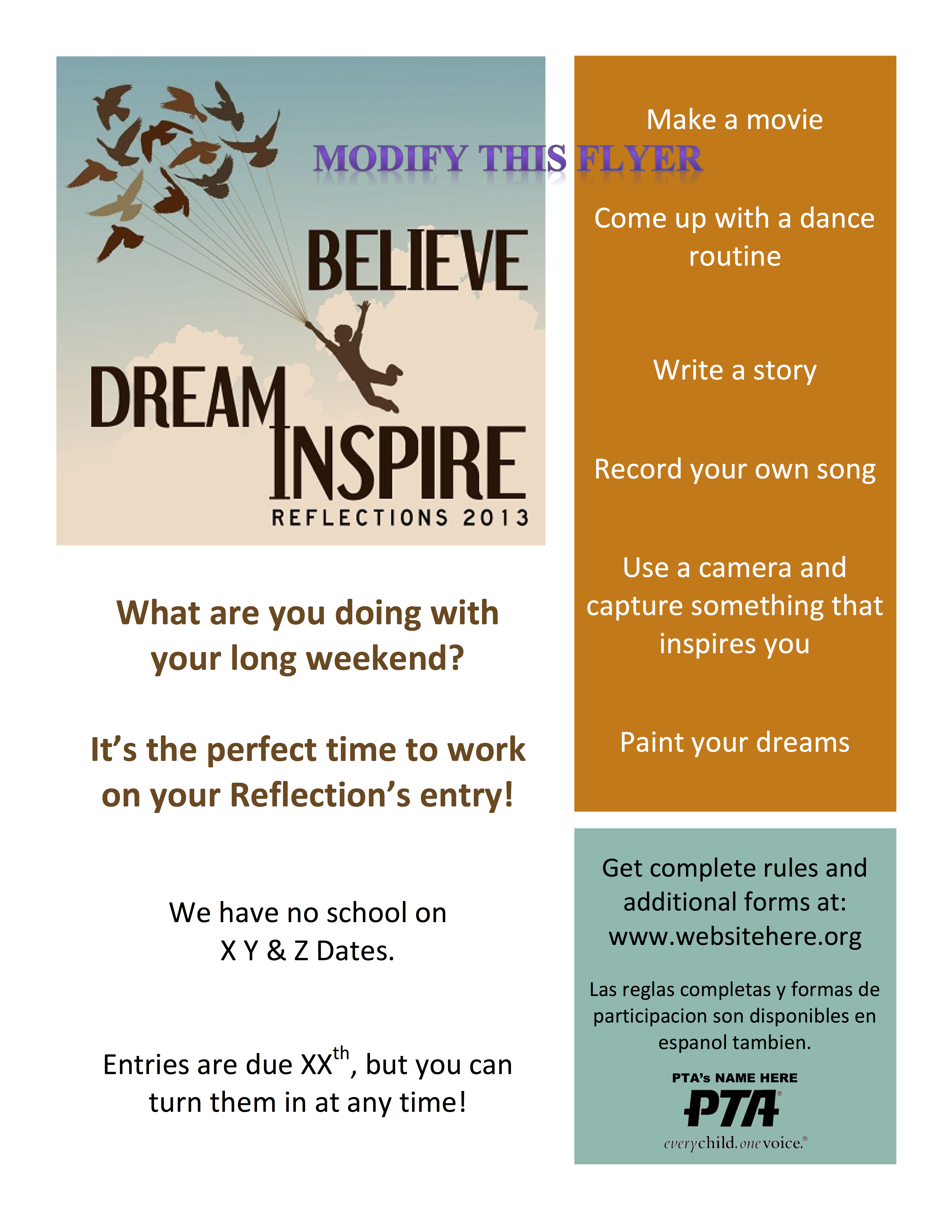 Local leader info guide nevada pta reflections modify this flyer pronofoot35fo Images