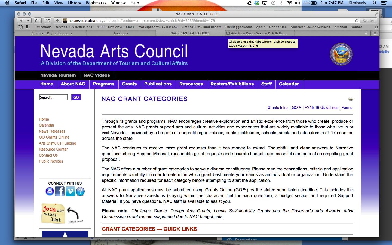 grant request application